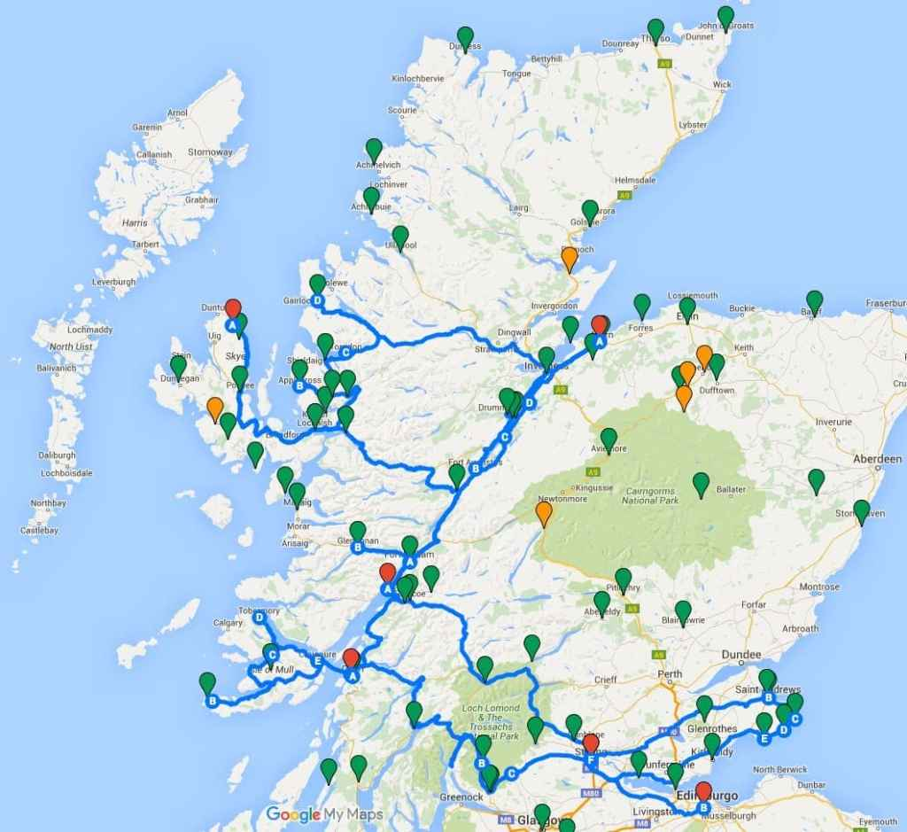Viaje de 15 días por escocia