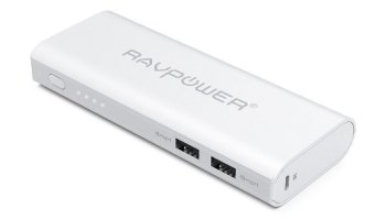 RAVPower RP-PB07 - Batería externa con tecnología iSmart (10400mAh, 3.5A, Dual USB)
