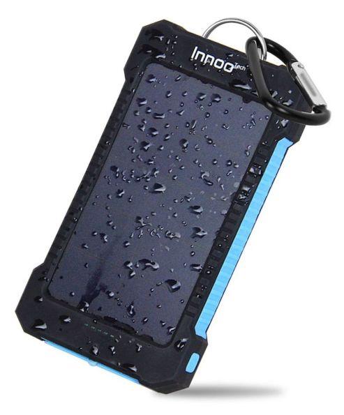 Innoo Tech 10000 mAh Cargador Solar Portátil Impermeable