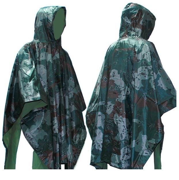 Impermeable de camuflaje: no debe faltar este poncho en tu mochila de emergencia