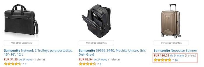 maletas Samsonite en la sección segunda mano