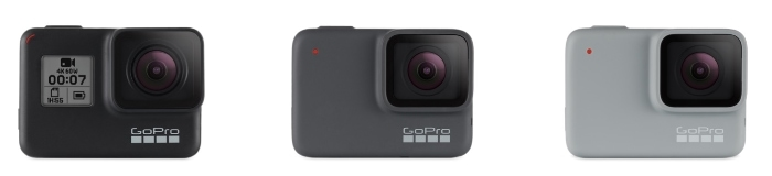 GoPro HERO7 Black, Silver y White