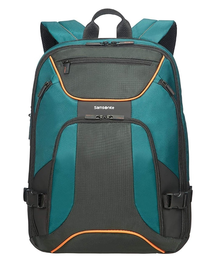 "SAMSONITE Kleur - Backpack for 15.6"" Laptop 0.8 KG Mochila Tipo Casual, 44 cm, 18 Liters, Verde (Green/Dark Green)"