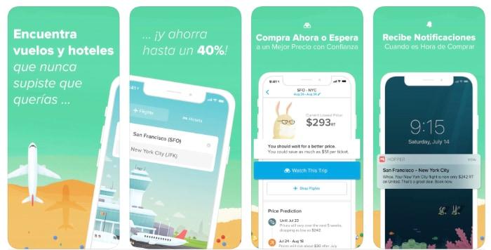 La mejor app para encontrar vuelos baratos: Hopper