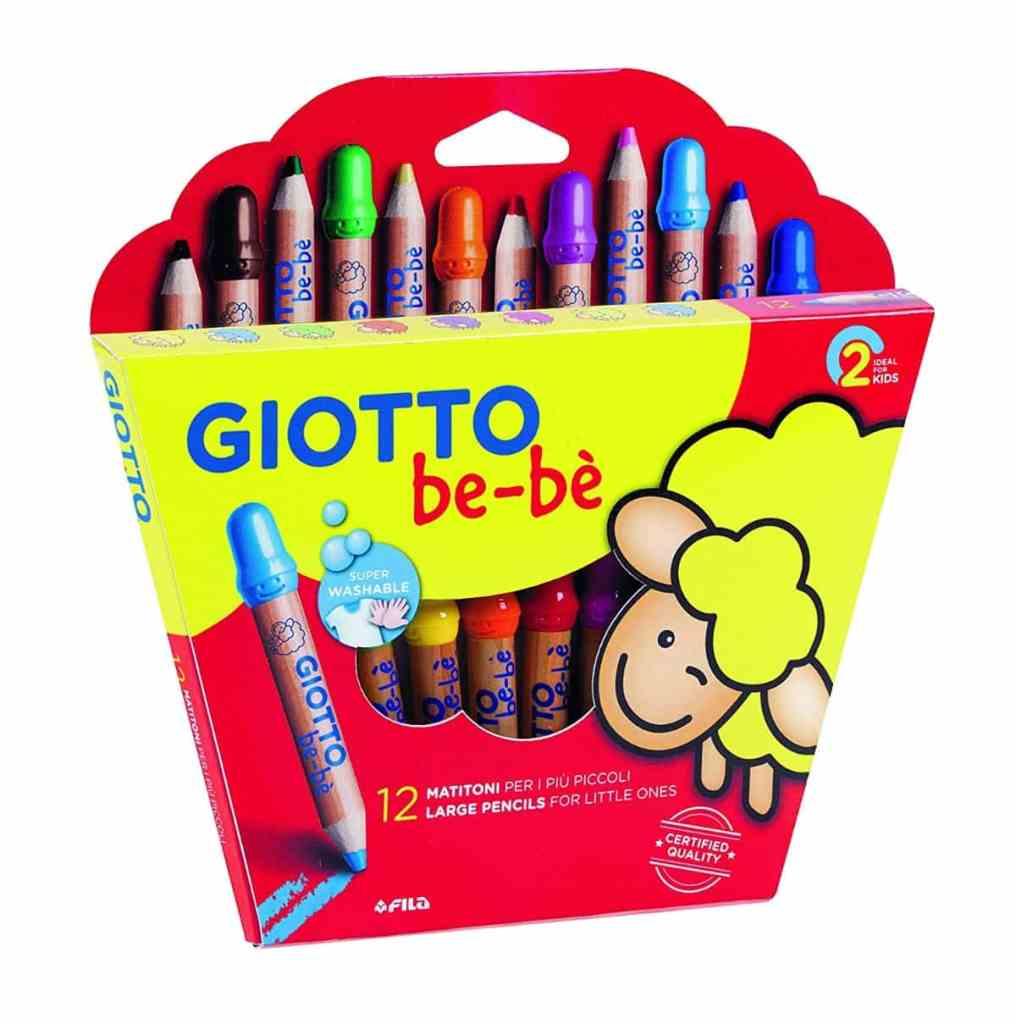 Giotto be-bè 466500 - Estuche 12 súper lápices de colores