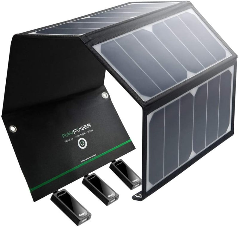 RAVPower Cargador Panel Solar 24W