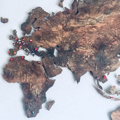 Wereldkaart met vlaggetjes - Annelies