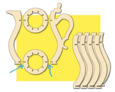 slim ontwerp houten vaas H3