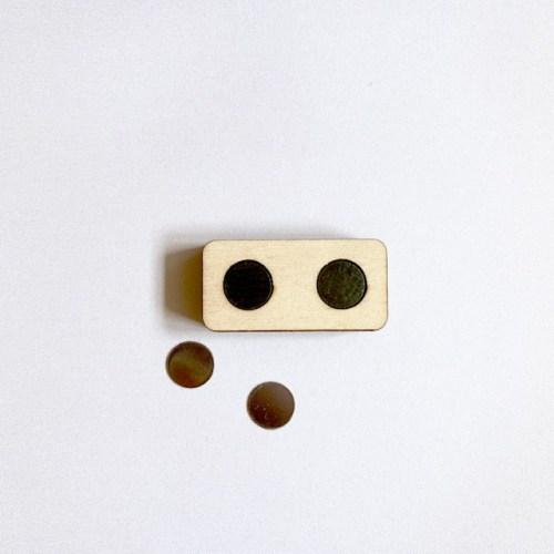 rechthoekige magnetische houten kaartenhouder