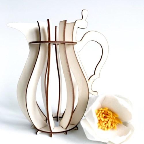 prachtige design vaas van hout H3