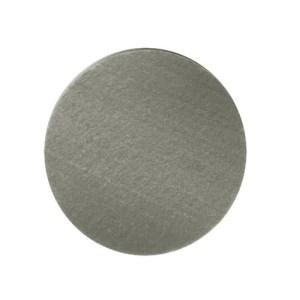 grijze ronde vilten onderzetter handgemaakt en wasbaar