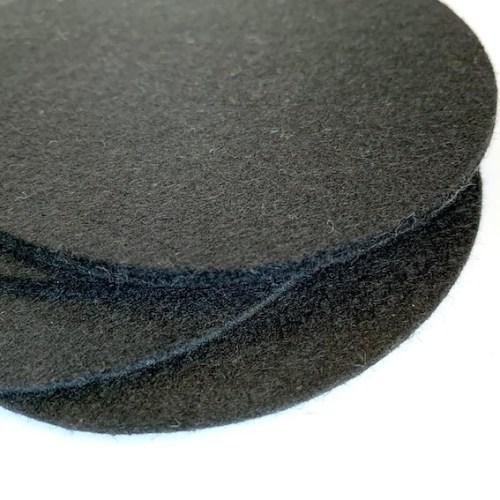 set ronde onderzetters van wasbaar zwart vilt