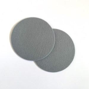 zacht grijs is prachtig, zeker met deze hittebestendige onderzetters van vilt