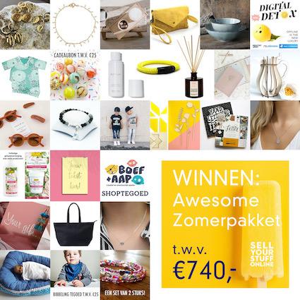 dit wil jij winnen: een zomers prijzenpakket namens een heleboel verschillende webshops