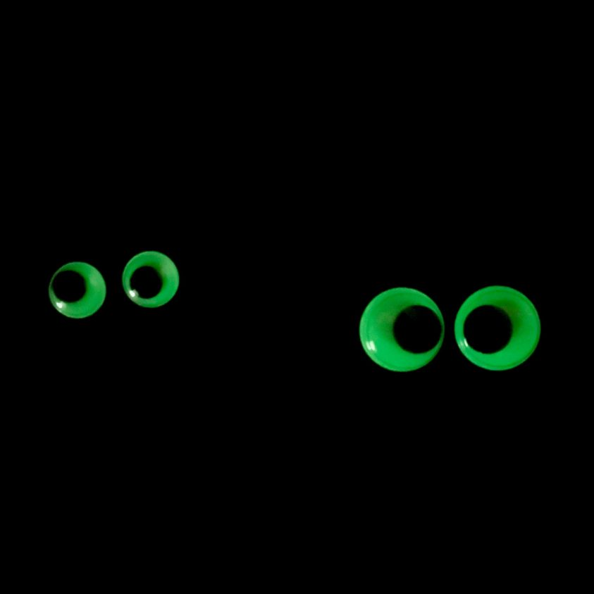 glow in the dark oogjes