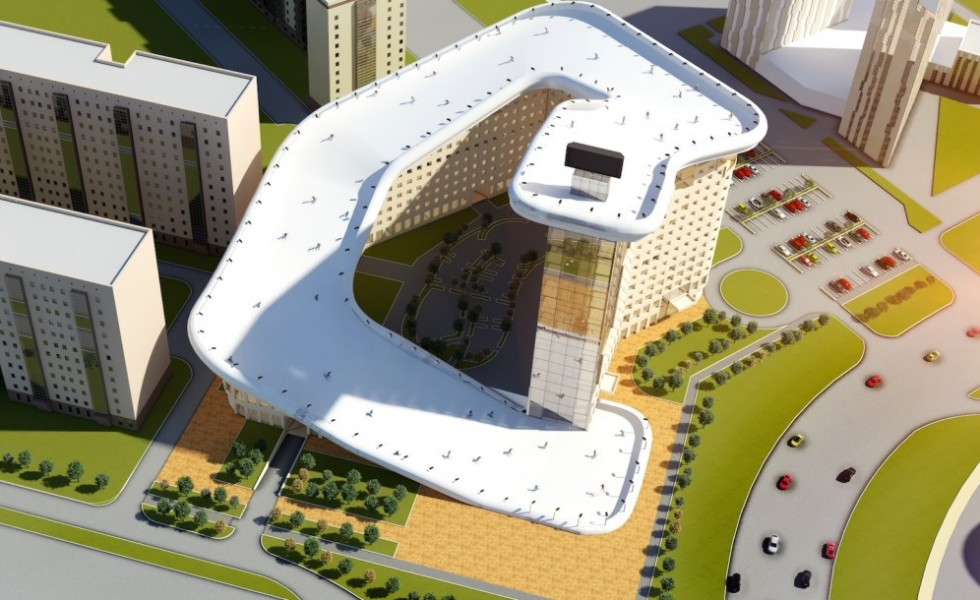 The Slalom House Worlds First Ski Slope On A Rooftop