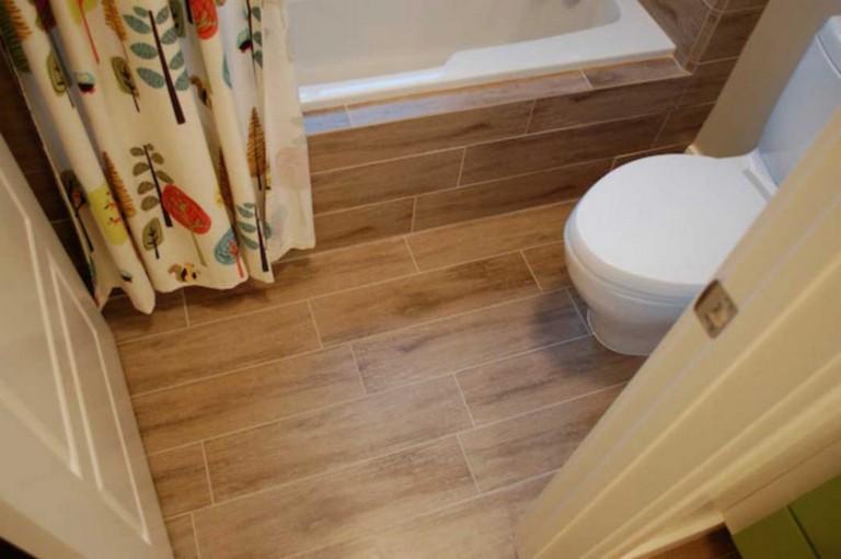 best awesome wood tile bathroom ideas