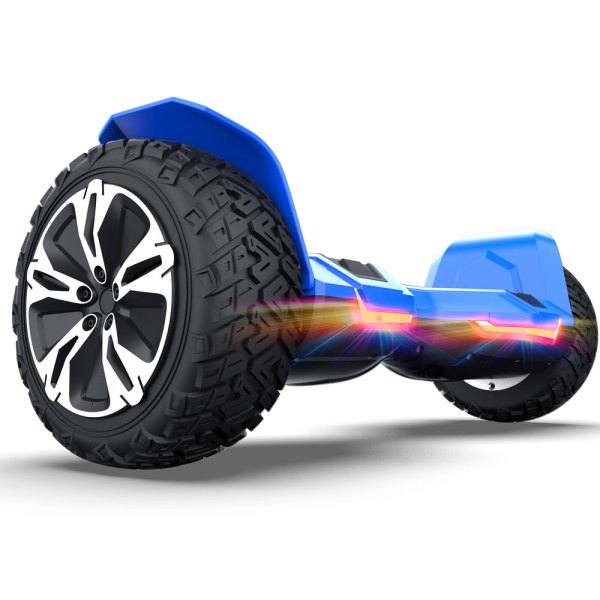 """Blue G2 Pro Gyroor WARRIOR 8.5"""" Off Road Bluetooth Hoverboard"""