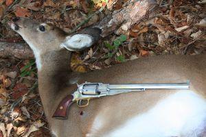 """Buffalo"" revolver with 60-lb. doe."