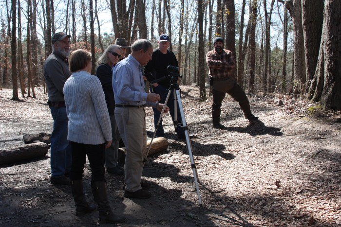 "Participants for the 2015 ""How to Become an Outdoor Communicator Seminar"" prepare to film a cooking demonstration."