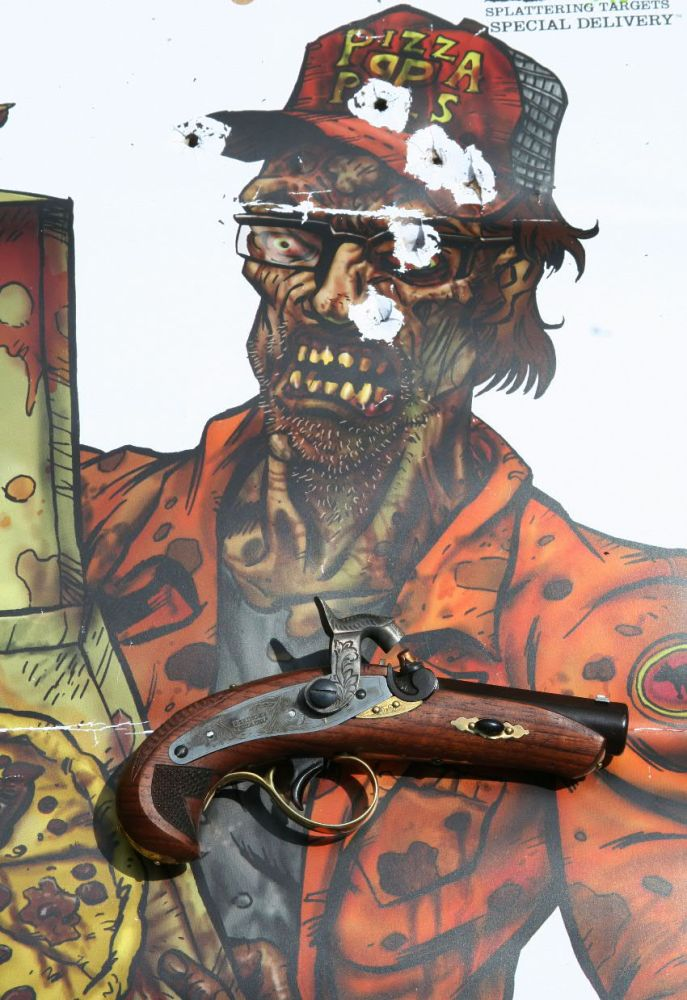 NRA Show Vendors, Lincoln Derringer vs. Zombie Pizza & BBQ, May 7-20, 2012 (1/6)
