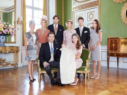 Prinsessa Leonoren kummit, prinssi Oscarin ristiäiset, kastejuhla, kuninkaalliset, Hovikirjeenvaihtaja