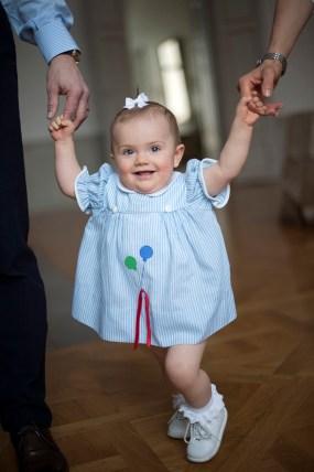Prinsessa Estelle 1v, syntymäpäivä