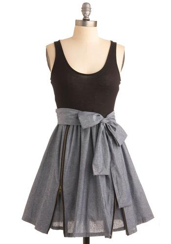 Modcloth grey and black dress.