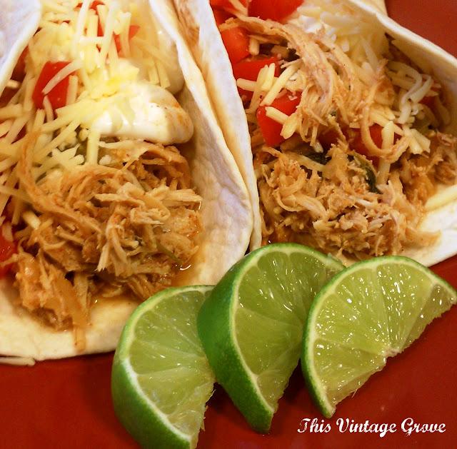 Cilantro Lime Chicken Tacos (crockpot style) – 1 lb. boneless skinless chicken b