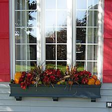fall window boxes