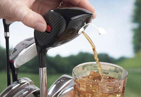 Gift for a golfer.  Golf Club Drink Dispenser