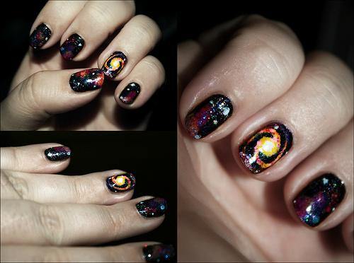 galaxy nail art!!!