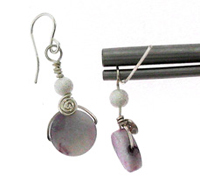 How to wrap a flat disc bead with spirals (my fav)@Cheri Williams