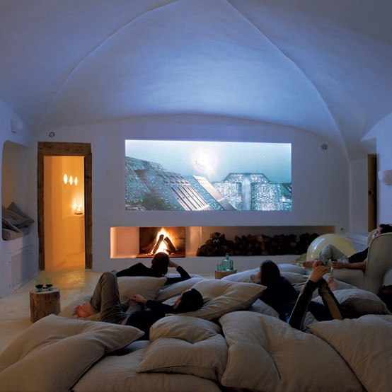 pillow room: don't spend money on couches or lounge chairs and buy a really