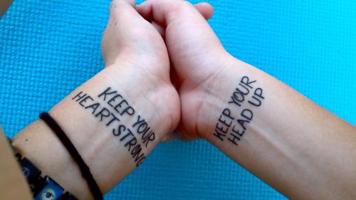 Wrist quote tattoos