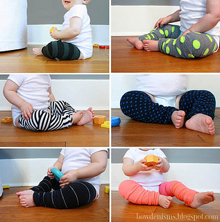 "DIY ""baby legs"" from adult knee socks! A super simple sewing project-"