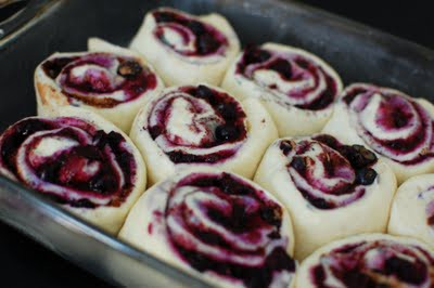 Made these Blueberry Cinnamon Rolls – sinful, and totally delicious. A totally d