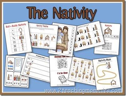 Preschool Printable Nativity Unit