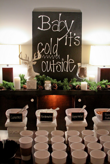 Hot Chocolate Bar for a winter event