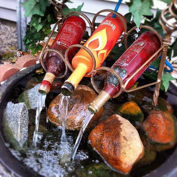 Wine Bottle Waterfall
