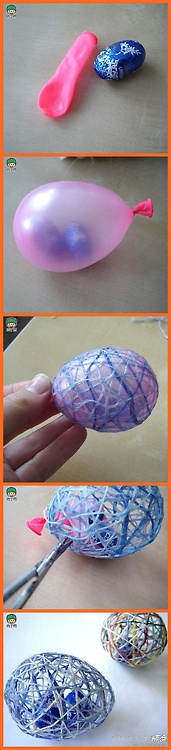 cool easter eggs… Directions were not given, but I think they use fabric stiff