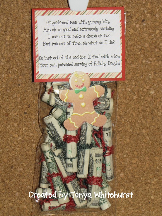 Holiday Dough- cute idea for if you don't know what to get someone or they