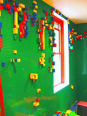 lego wall!! If it is a boy you should def do this!!