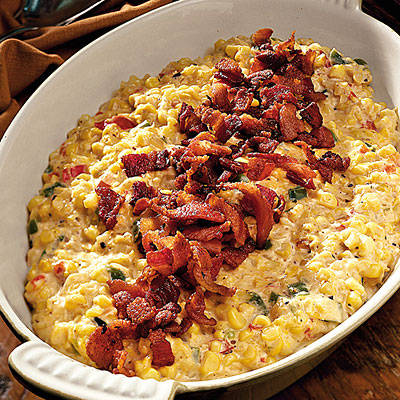 Thanksgiving Dinner Side Dishes: Creamy Fried Confetti Corn Recipes < 60 Spec