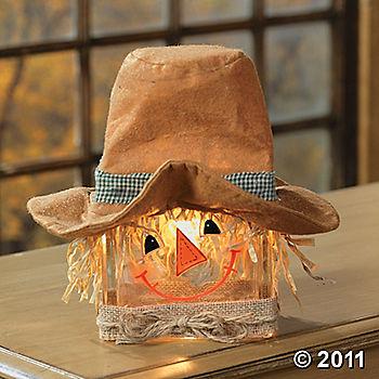 Scarecrow Glass Block