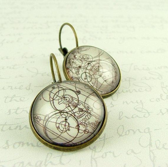Gallifreyan earrings. Doctor Who!