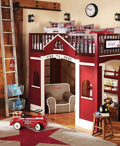 Firetruck room…so cute!