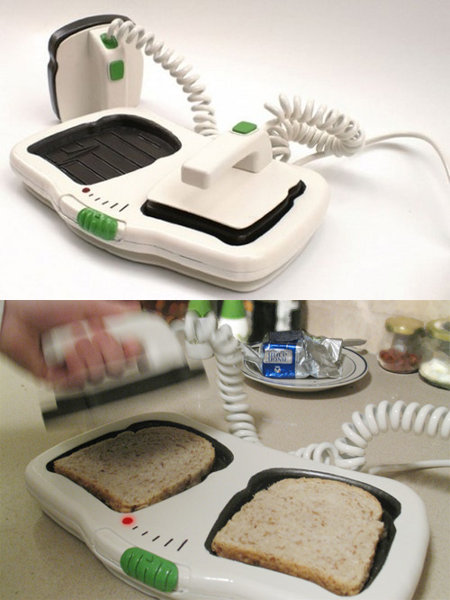 the defibrillator toaster…my mom would be so annoyed…every morning I wou