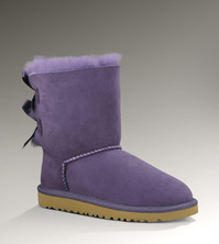 Girl's UGG Bailey Bow in Purple.. so cute.. there are purple ribbon bows in
