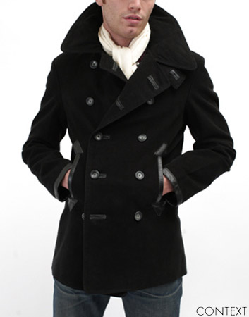this is a modern day mens version of the Crinoline pea coat. both men and women